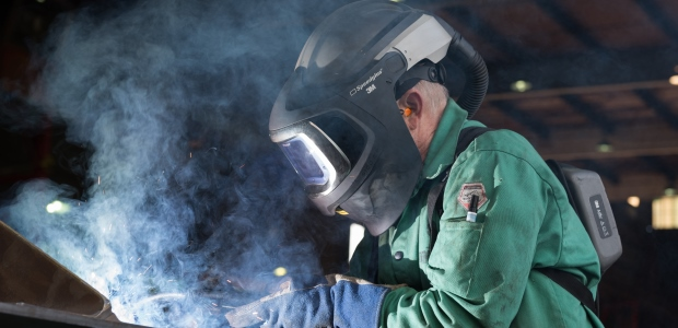 A well-run program is the best way to help ensure that your welders are protected from respiratory hazards. (3M photo)