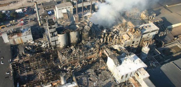 This CSB photo shows the aftermath of the Imperial Sugar plant explosions in 2008 and is found in the U.S. Chemical Safety and Hazard Investigation Board