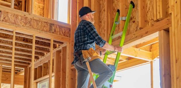 Make sure the weight rating of the ladder you choose is greater than your weight and all of the clothes, tools, and equipment you will be wearing/carrying. (Little Giant Ladder Systems photo)